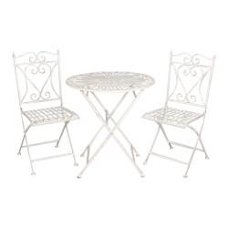 Tafel + 2 stoelen | Ø 70*75...