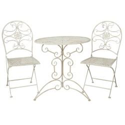 Tafel + 2 stoelen | Ø 70*74...