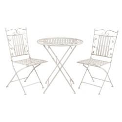 Tafel + 2 stoelen | Ø 70*77...