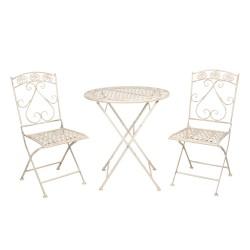 Bistroset tafel + 2 stoelen...
