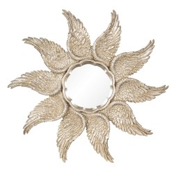 Mirror with border of wings...