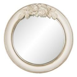 Mirror | Ø 25*4 cm | Beige...