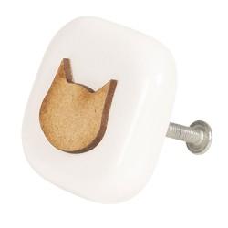Deurknop | 5*5*3 cm | Bruin...