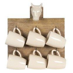 Wall rack with 6 mugs |...
