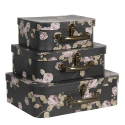 Decoratie koffer (set van...