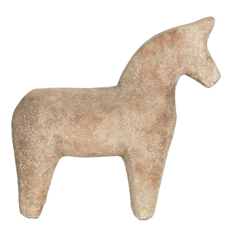Clayre Eef Decoratie Paard 6ce1220 25 8 25 Cm Bruin Keramiek Decoratief Figuur
