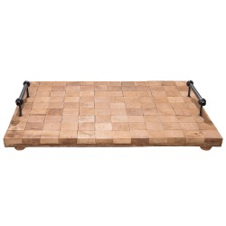 Tray | 48*36*8 cm | Brown |...