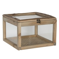 Wooden box with glass |...