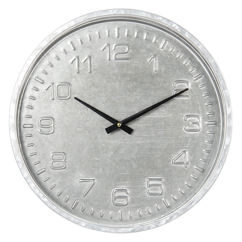 Clayre /& Eef Uhr Ø 34*3 cm Papier 6KL0569 1*AA Mehrfarbig MDF