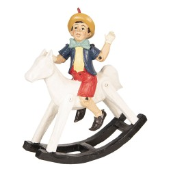 Poupée sur cheval à bascule...