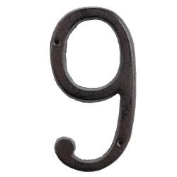 Numéro (9) | 15 cm | Marron...