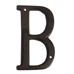 Lettre B | 13 cm | Marron |...