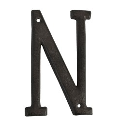 Letter N | 13 cm | Brown |...