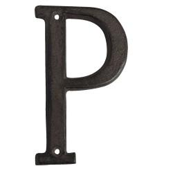Letter P | 13 cm | Brown |...