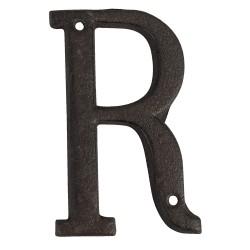 Lettre R | 13 cm | Marron |...