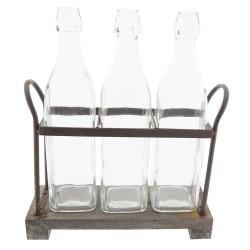 Bottle holder with bottles...