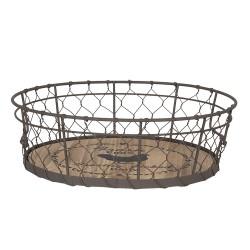 Basket | Ø 26*8 cm | Brown...
