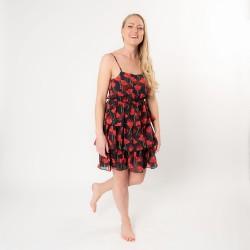Dress L red/black   L   Red...