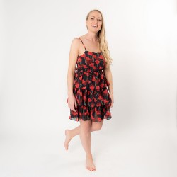 Dress M red/black   M   Red...