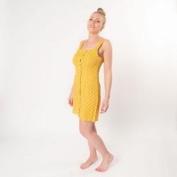 Kleid L Gelb L Gelb 100 Polyester Punkte Juleeze Jzcl0013ly
