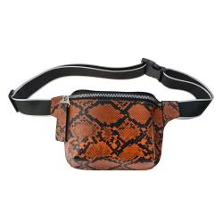 Waist bag with belt | Brown...