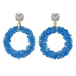 Earrings | Blue | Metal |...