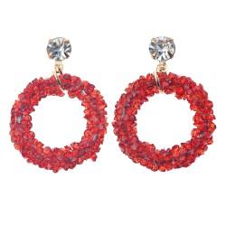 Earrings | Red | Metal |...
