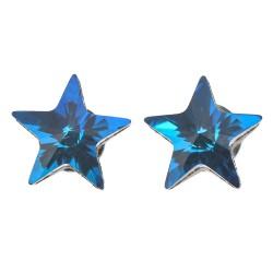 Earrings crystal | Blue |...