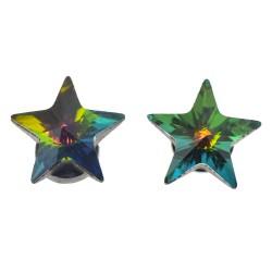 Earrings crystal | Green |...