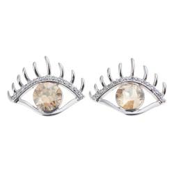 Earrings crystal | Yellow |...
