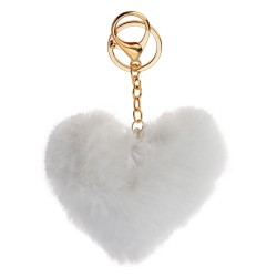 Key chain | White | Plastic...