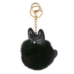 Key chain | Black | Metal,...