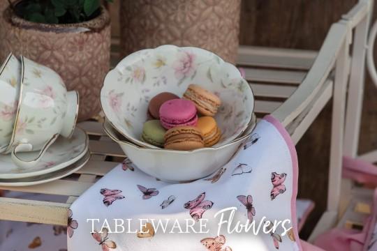 Tableware flowers